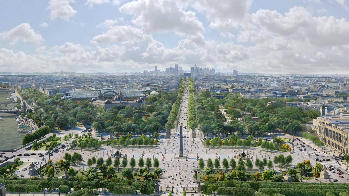 Kizöldül a Champs-Élysées