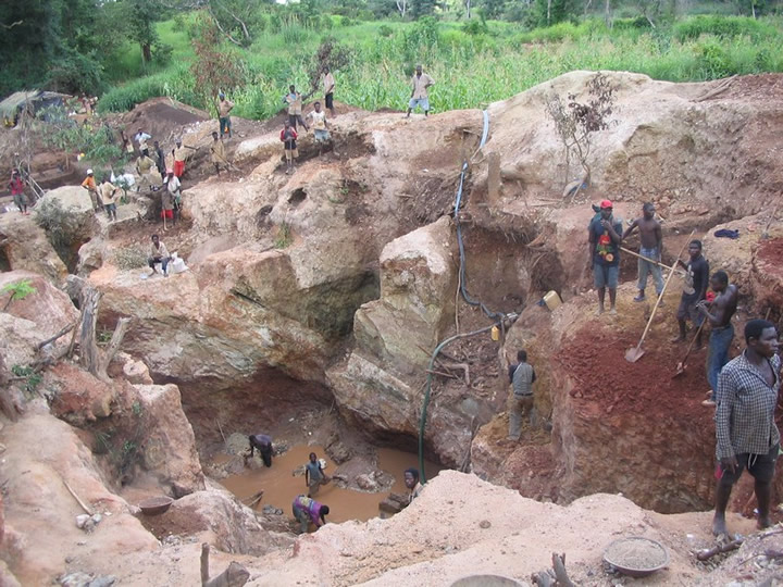 koltán bánya Afrika