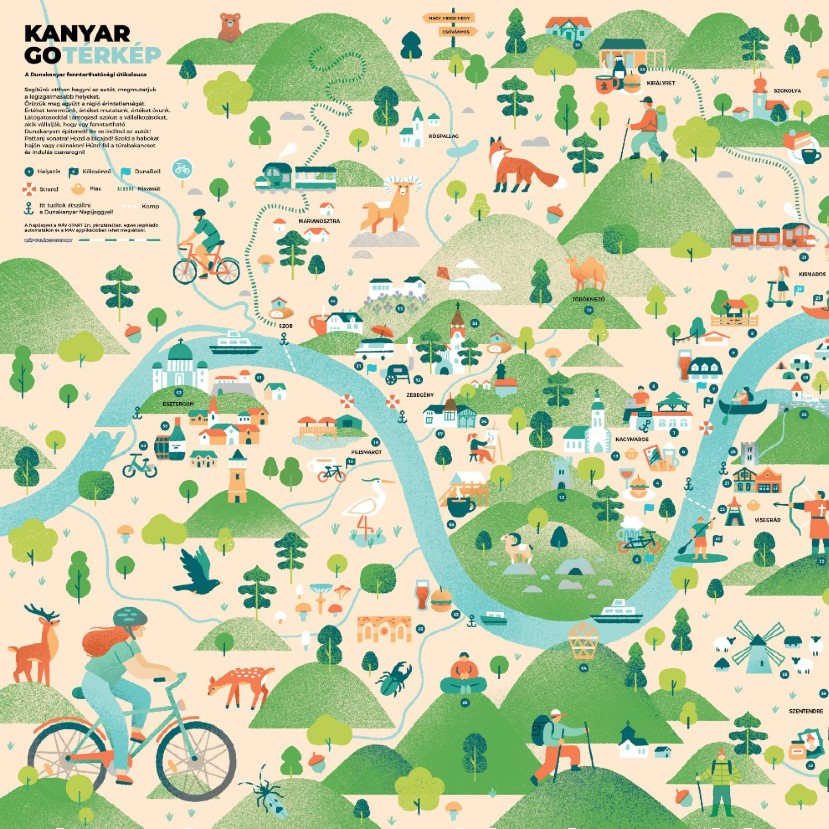 A KanyarGO segít, ha fenntartható helyeket látogatnál a Dunakanyarban