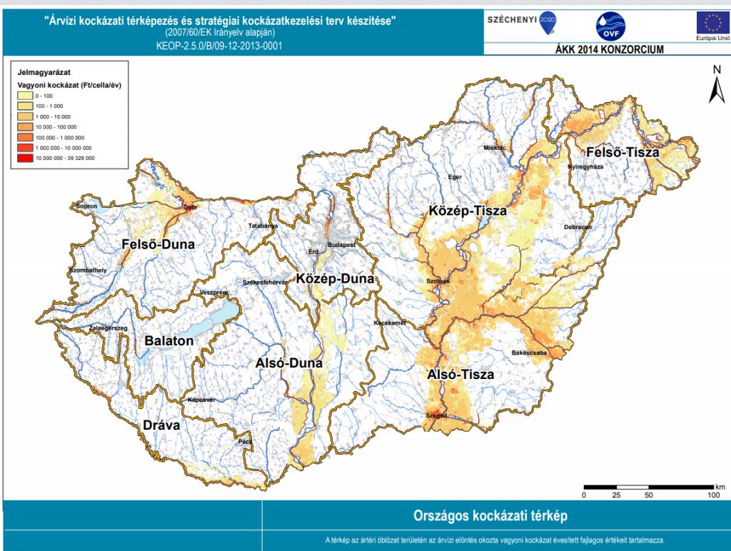 árvíz kockázati térkép