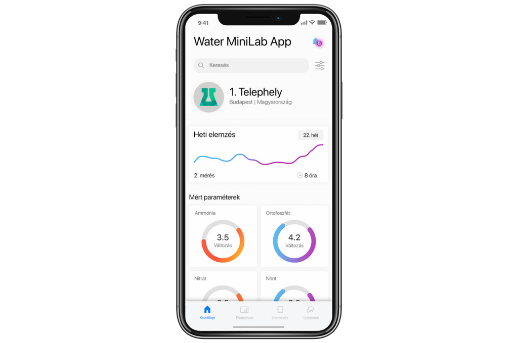 Water MiniLab applikáció